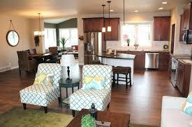 Living Room Dining Granite Bay Ranch Kitchen Model Home In