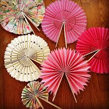 DIY Paper Fans But Coffee Brown Cute Idea For Outdoor Weddings And Place On Each Guest Seat Its Going To Be Hot