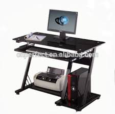 Tempered Glass Computer Desk by Tempered Glass Computer Desk Office Table With Metal Legs Mordern