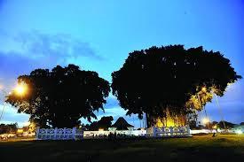 Suasana Alun Kidul Yogyakarta Malam Hari