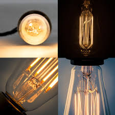 stylish filament led bulbs in clear gold coloured crown