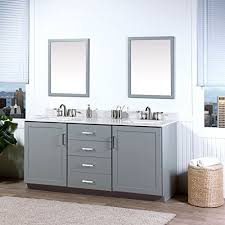 maykke sterling 72 inch bathroom vanity set in birch wood light