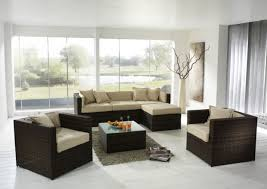 Full Size Of Modern Design Inspiring For Affordable Living Room Featuring Dark Brown Rattan Frame Sofa