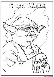 Star Wars Master Yoda Printable Coloring Pages 17