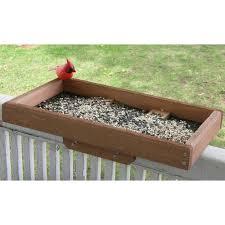 Deck Post Tray Bird Feeder Yard Envy