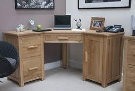 Ebay Corner Computer Desk by Eton Solid Oak Modern Furniture Office Pc Corner Computer Desk Ebay