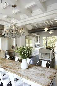 Fine Farmhouse Dining Room Ideas A Huge Collection Of Light Bright All White And Beige