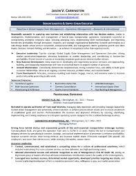 Template Executive Resume Sen Senior Management Templates