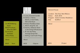 MOS Architects By Studio Lin New York Branding Design Print