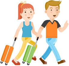 Man And Woman Traveling Together