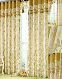 online noise reducing floral print damask yellow curtains uk