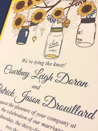 Sunflower Wedding Invitation Pocketfold Set