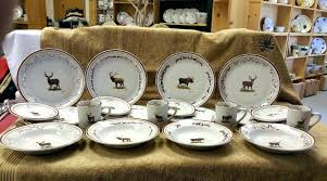 Lodge Dinnerware Sets Cabin Country Rustic Style