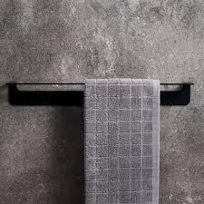 handtuchstange schwarz edelstahl 60 cm ohne bohren