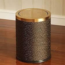 ainiyf abfallbehälter edelstahl shake mülleimer leder mode mülleimer badezimmer schlafzimmer leder schaukel runde haushalt mülleimer color gold