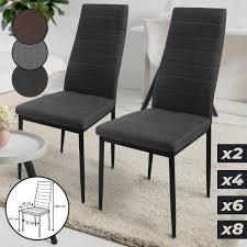 esszimmerstühle 2er 4er 6er 8er set gepolstert stoffbezug metall höhe