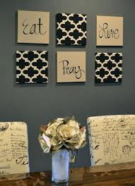Diy Dining Room Wall Decor Ideas Enchanting Black Brown Square Modern Paper