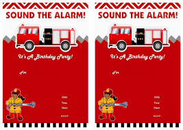 Girl Firefighter Birthday Invitation Fireman Truck Rcfebfaaabaa ...