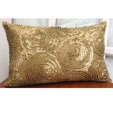 Small Decorative Lumbar Pillows by Decor Feather Lumbar Gold Throw Pillows For Home Accessories Ideas