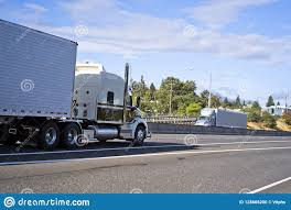 100 Semi Truck Trailers Big Rigs S With Running Towards Each