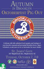 Brooklyn Pumpkin Ale by Oktoberfest Pig Out St James U0027s Gate Publick House