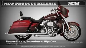 Vance And Hines Dresser Duals by Dresser Duals Turndown Slip Ons For 2012 Touring Cvo Street Glide