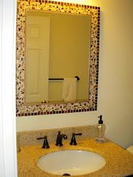 Mosaic Framed Bathroom Mirror by Creative Ways To Personalize Mirrors