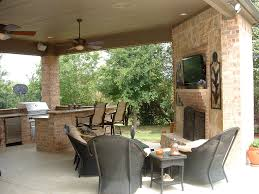 Outdoor Kitchen and Fireplace Design