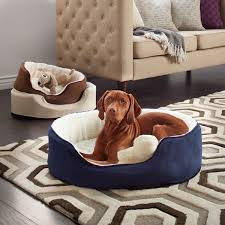 furhaven sherpa and suede orthopedic oval pet bed free shipping