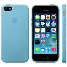 Apple iPhone 5S 5 Leather Case Blue