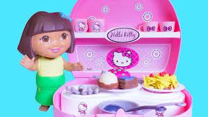Dora The Explorer Kitchen Set by Dora The Explorer Chef With Hello Kitty Mini Kitchen Dora La