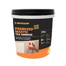 dunlop 20kg pre mix mastic wall tile adhesive bunnings warehouse