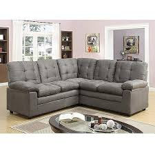buchannan microfiber corner sectional sofa grey walmart com