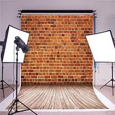 SUSU Red Brick Wall Photography Backdrops Vintage Rustic Background Wooden Floor Studio For Photographer Seamless