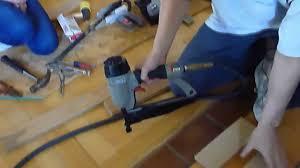 Wood Floor Nailer Gun by Hardwood Floor Part 2 How To Install Youtube