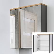 spiegelschrank 60 cm solna 56 hochglanz grau b x h x t ca 60 x 70 x