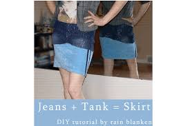 upcycled fashion 5 ways to turn jeans into a skirt