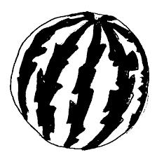 Watermelon Clipart Black and White