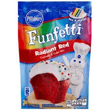 FunfettiR Radiant Red Cupcake Cake Mix