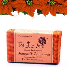 Organic Orange And Cinnamon Soap Rustic Art Chemical Free Exotic