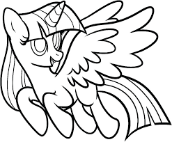 Twilight Sparkle Coloring Page Plus Princess Pages My Little Pony