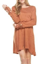 mittoshop rust sweater dress from las vegas by apricot lane las