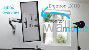 Ergotron Lx Desk Mount Lcd by Ergotron Lx Hd Sit Stand Wall Mount Lcd Arm Youtube
