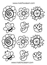 Coloriage Fleur Simple Facile Maternelle JeColoriecom