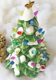 Martha Stewart 75 Foot Christmas Trees by Multi Color Light Up Ceramic Christmas Tree Vintage Rustic