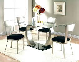 Elegant Metal Top Dining Table Room Tables Black Glass Modern