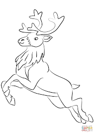 Click The Santa Clauss Reindeer Coloring Pages To View Printable Version Or Color It Online Compatible With IPad And Android Tablets