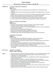 Marketing Internship Resume Samples Velvet Jobs Throughout Examples With Experience Fashion Intern Sample