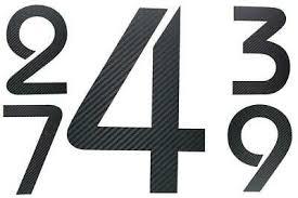 bauhaus hausnummer edelstahl h20cm oder buchstaben h15cm