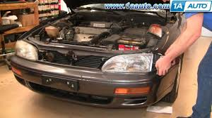 how to install replace side marker light and bulb toyota camry 95